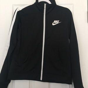Nike black zip up jacket. Size small.